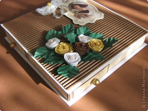 Под свою мелкую бижутерию сделала коробочку, так сказать вариант мини-комодика.  фото 2
