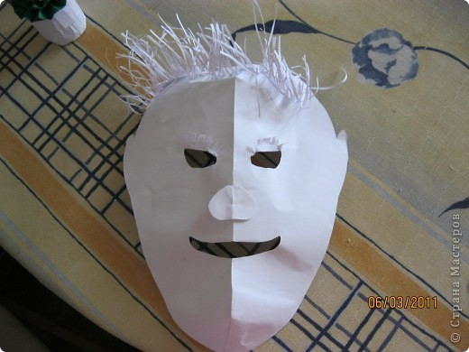 Эту маску мы делали на уроке ИЗО. Хотите, выложу МК? фото 1
