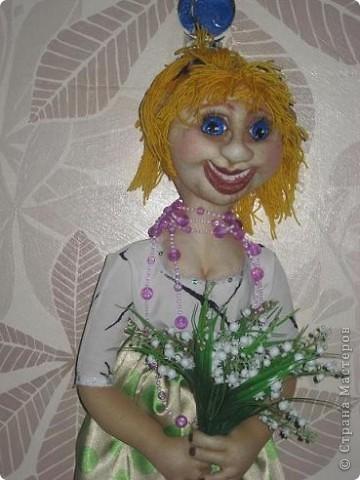 Делала куклу-пакетницу, а получилась вот такая девушка-Весна. фото 1