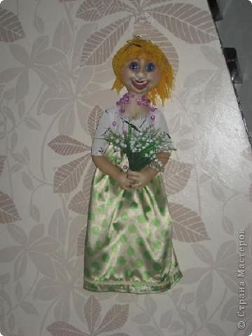 Делала куклу-пакетницу, а получилась вот такая девушка-Весна. фото 2