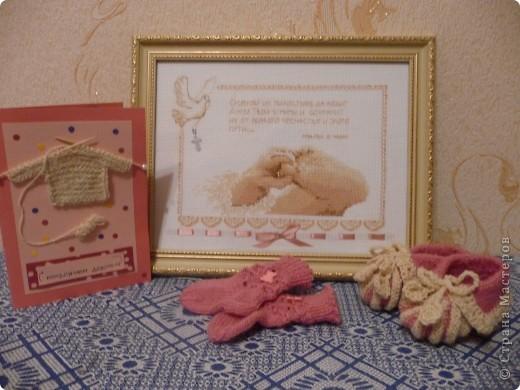 Вот такой наборчик я срукодельничала на рождение дочки для моей подруги фото 1