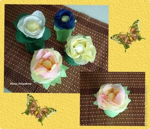 Сегодня мы с Алешей поздравили бабушек вот такими цветами по МК Татьяны Просняковой http://stranamasterov.ru/node/158249