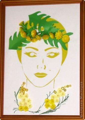 """Девушка-Весна. Венок из одуванчиков, линии платья - мимоза, """"противные желтые цветы"""" )) фото 2"""