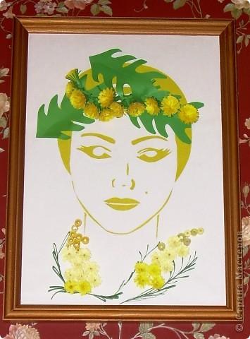 """Девушка-Весна. Венок из одуванчиков, линии платья - мимоза, """"противные желтые цветы"""" )) фото 1"""