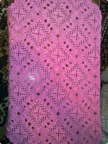 Вязанная скатерть на столик фото 2