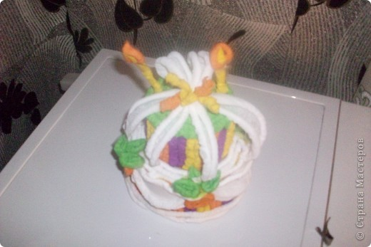 это мой тортик уже дедушке на юбилей моя первая работа в этой технике я его сделала за вечер и утром доделала до обеда фото 3