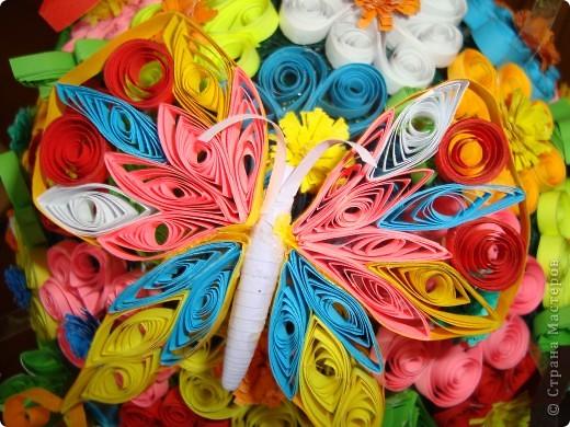 Цветочная поляна Корзина: плетение + декупаж фото 4