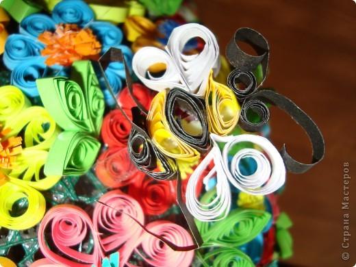 Цветочная поляна Корзина: плетение + декупаж фото 5