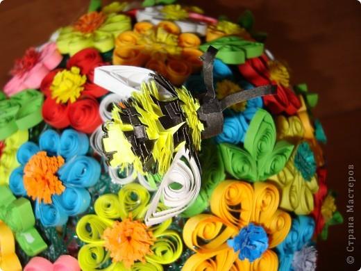 Цветочная поляна Корзина: плетение + декупаж фото 6