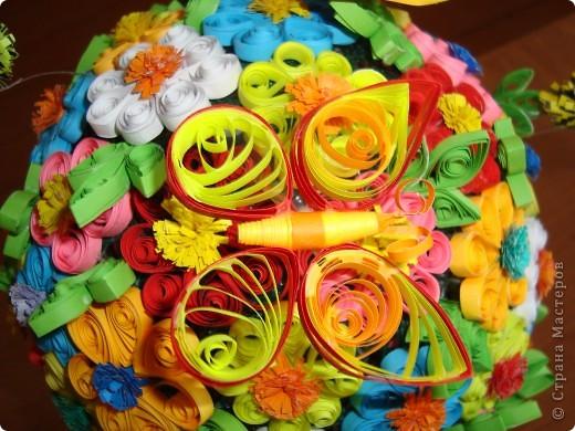 Цветочная поляна Корзина: плетение + декупаж фото 3