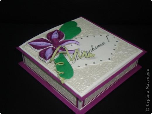 Ещё одна коробочка. Делалась в подарок девушке. Хотелось чего-то нежного.  фото 1