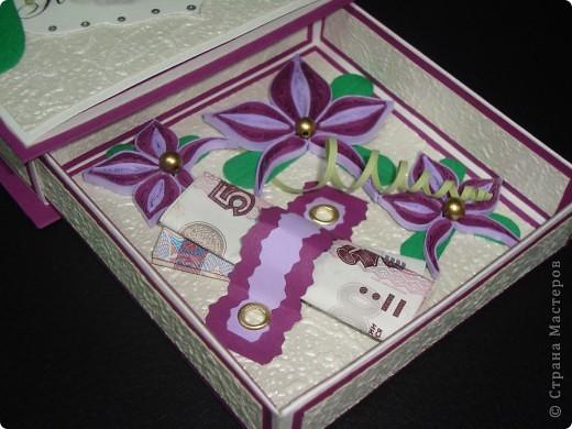 Ещё одна коробочка. Делалась в подарок девушке. Хотелось чего-то нежного.  фото 4