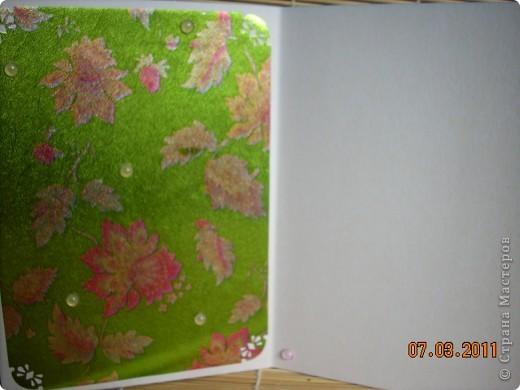 цветной картон,декоративная фольга,цветочки,бусинки. фото 2