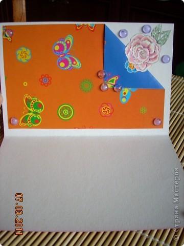 цветной картон,декоративная фольга,цветочки,бусинки. фото 4
