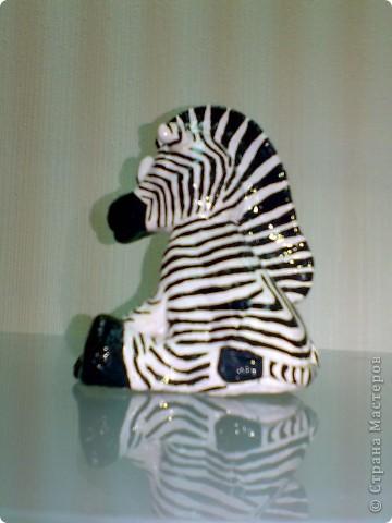 Вот такие у меня получились товарищи - зебра в мою коллекцию, а слоник (по мастер-классу ANAID, за что большущее спасибо!) в коллекцию родственницы, она собирает слонов. фото 6