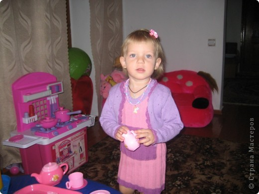 Вот такое пальтишко и шапочку я связала свое дочке на 2 года! фото 2