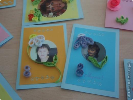 Вот такие открытки получились у моих пятиклашек к 8 марта фото 4