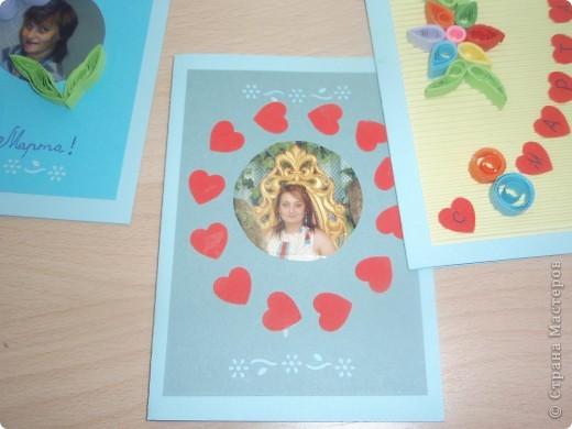 Вот такие открытки получились у моих пятиклашек к 8 марта фото 5