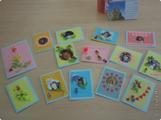 Вот такие открытки получились у моих пятиклашек к 8 марта фото 1