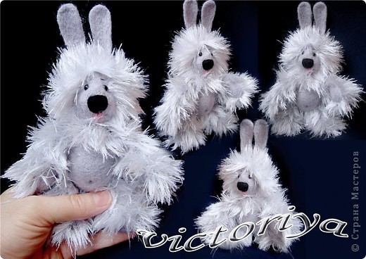 Вот такой зайчишка был связан в подарок одной милой девушке ))) Теперь живёт в Казахстане )))