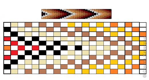 Схемки браслетов из бисера фото 3