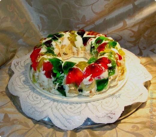Желейный торт без выпечки