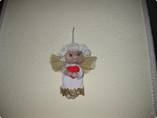Этого ангелочка сегодня сшила по просьбе сынули.Очень ему хотелось подарить своей семилетней подружки очень маленького ангелочка. фото 3