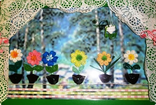 Цветочки делали дети старшей группы дет.сада!
