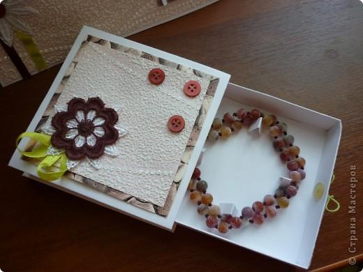 Открытка и подарочкая коробочка на день рождения фото 2