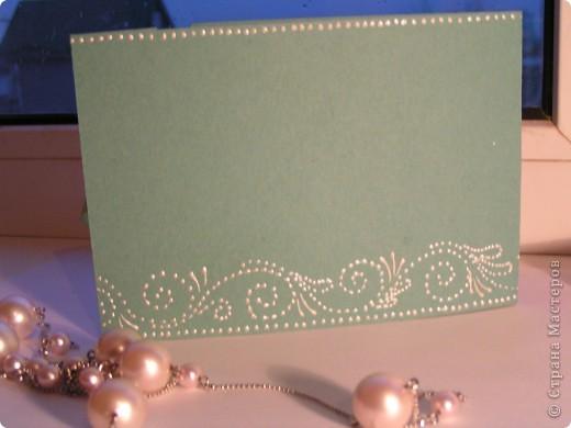 """Часто делаю открыточки с завязками. Как правило, это валентинки, свадебные. Завязки, на мой взгляд, добавляют таинственности, поздравление становится сугубо личным. На этом фото валентинка """"Я тебя люблю"""". фото 4"""