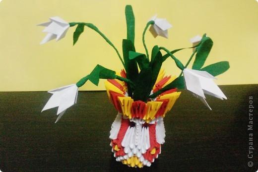 Цветущий кактус из модулей. фото 2