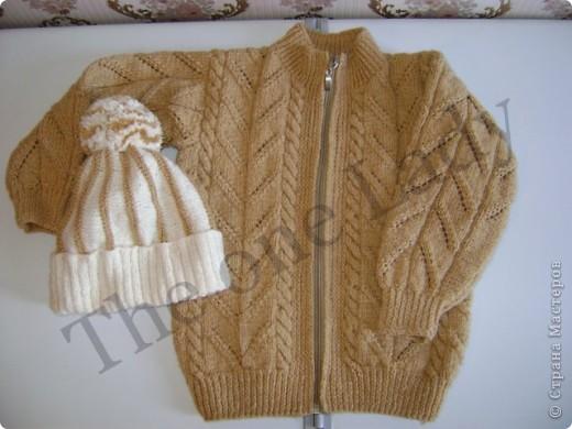 Джемпер и шапочка для старшей дочки фото 1