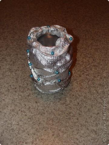 Еще вазочка из баночки фото 2