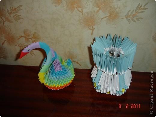 маленький лебедь и ваза