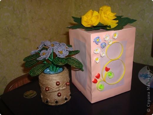Подарок маме на 8 Марта решила упаковать в праздничную коробочку фото 1