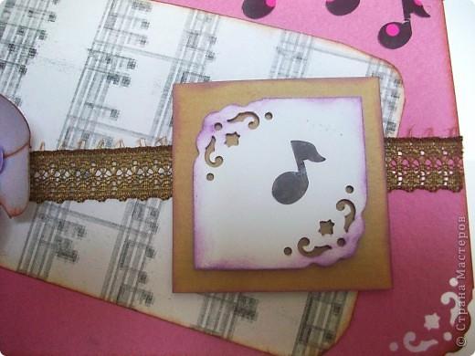 Ещё одна открытка по скетчу http://stranamasterov.ru/node/159827?c=favorite Захотелось сделать с легким музыкальным акцентом :) фото 5
