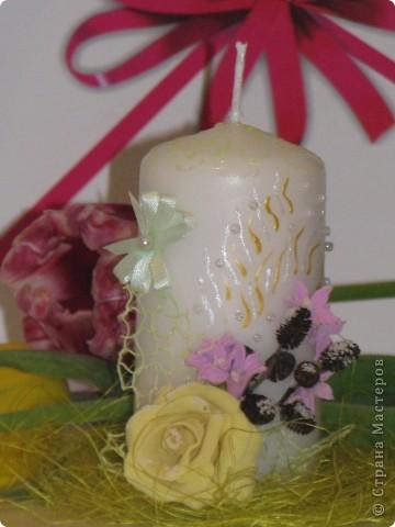 Это моя вторая попытка в декоре свечей фото 1