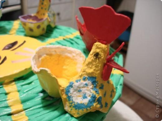 Мастер-класс Пасха Плетение ПАСХАЛЬНОЕ СОЛНЫШКО ---подставка под пасхальные яйца и кулич Бумага газетная фото 6