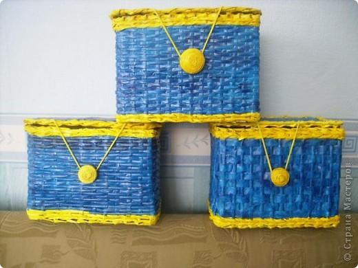 3 сундука на заказ,именно такое сочетание цветов просили. фото 1