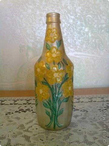 обычные бутылочки расписаны акриловой краской фото 2