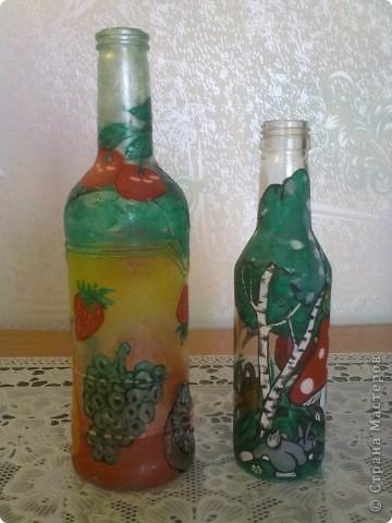 обычные бутылочки расписаны акриловой краской фото 10