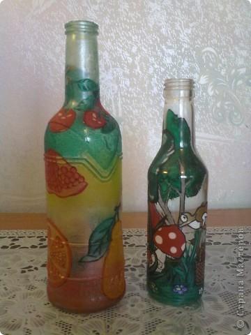 обычные бутылочки расписаны акриловой краской фото 4