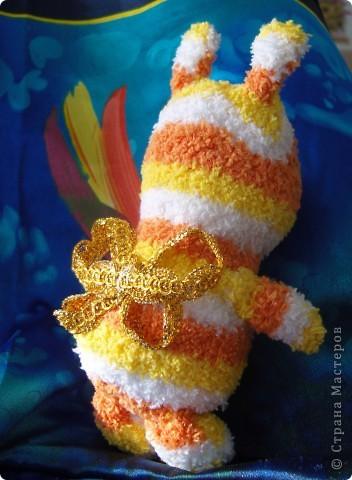 Обещание воспользоваться махровыми носочками для шитья игрушек исполнила! Это действительно чудо!  фото 3
