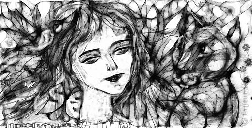 Мой рисуночек:-) Рисование -отдых! Нади меня (не девушку, а кое-кого другого) фото 1