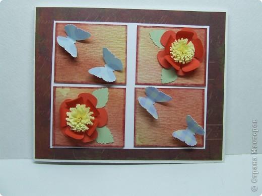 Эта открытка была сделана по скетчу с этого сайта http://sasya-sketches.blogspot.com/ фото 1