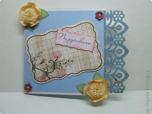 Эта открытка была сделана по скетчу с этого сайта http://sasya-sketches.blogspot.com/ фото 4