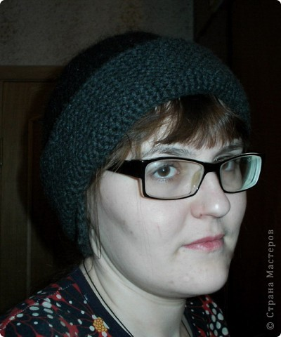 Шапочка и шарфик спицами и крючком фото 3
