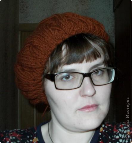 Шапочка и шарфик спицами и крючком фото 6