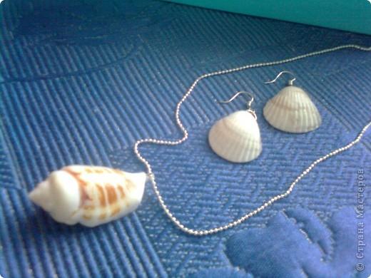 Воспоминания о море....украшения из ракушек фото 1