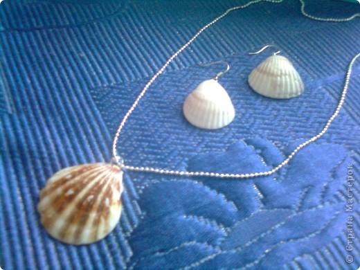 Воспоминания о море....украшения из ракушек фото 2